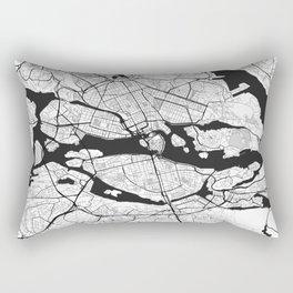 Stockholm Map Gray Rectangular Pillow