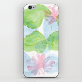 water lilies plants ink iPhone Skin