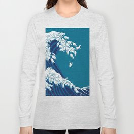 Waves Llama Long Sleeve T-shirt