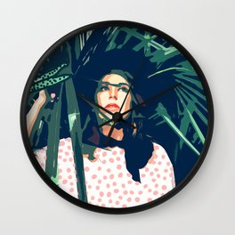 Tropical Travel #society6 #decor #buyart Wall Clock