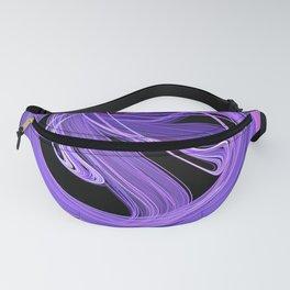 Purple-Lilac Swirling Fire Fractal Design Fanny Pack