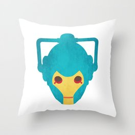 Colorful Cyberman Doctor Who Throw Pillow