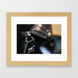 Zipper on a shoe Framed Art Print