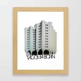 Tacoma Born - St. Josephs Hospital  Framed Art Print