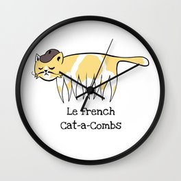 Le French Cat-a-Combs Wall Clock