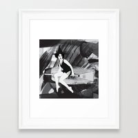 witch Framed Art Prints featuring Witch by Inbeeswax