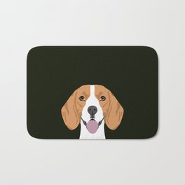 Darby - Beagle gifts for pet owners and dog person with a beagle Bath Mat