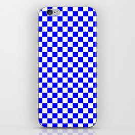 Small Checkered - White and Blue iPhone Skin