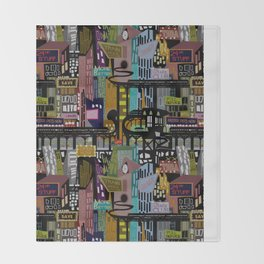 Mid-Century City Throw Blanket