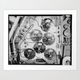 U.S.S. HORNET FIREROOM Art Print
