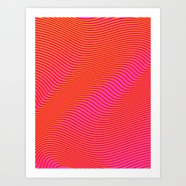 Fancy Curves Art Print