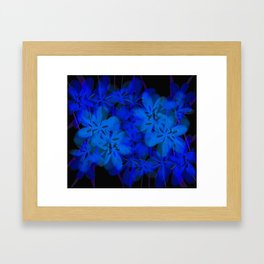 Floral Fun in Blue Framed Art Print