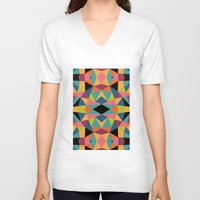 kaleidoscope V-neck T-shirts featuring Kaleidoscope by Andy Westface