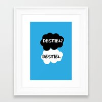 destiel Framed Art Prints featuring Destiel - TFIOS by downeymore