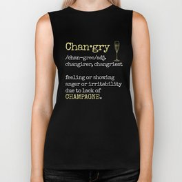 Changry definition Champagne funny  Biker Tank