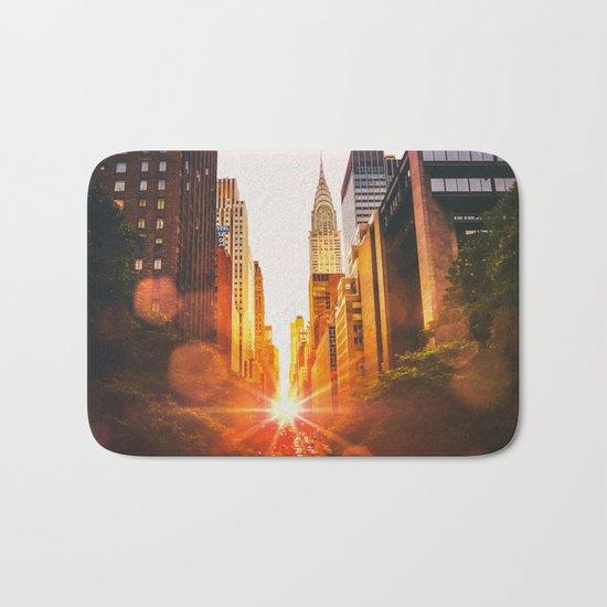 NYC Skyline Sunset Bath Mat