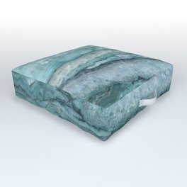 Mystic Stone Aqua Teal Outdoor Floor Cushion