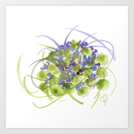 Atom Flowers #13 Art Print