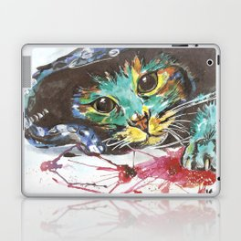 Emerald cat Laptop & iPad Skin