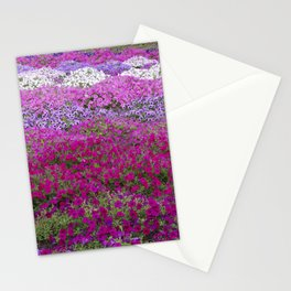 Waves of color on a sea of Petunias Stationery Cards