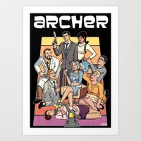 archer Art Prints featuring Archer by Alex Sollazzo