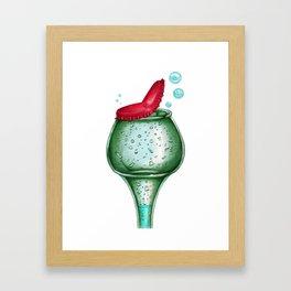 Bottle head Framed Art Print
