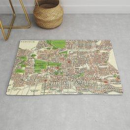 Vintage Johannesburg South Africa Map (1913) Rug