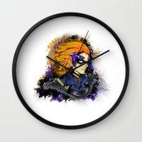 fire emblem Wall Clocks featuring Fire Emblem Awakening - Gerome by inkjamz