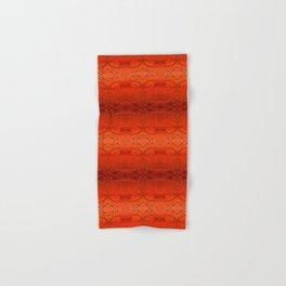 Rustic Orange Geometric Southwestern Pattern - Luxury - Comforter - Bedding - Throw Pillows - Rugs Hand & Bath Towel