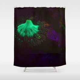 Volcano of fluorescent anemone Shower Curtain