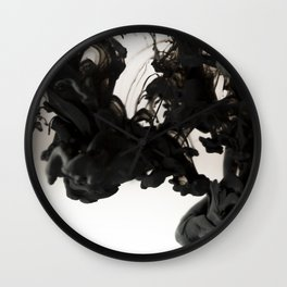 Ink #abstract #black Wall Clock