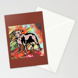 Super dog pop art Stationery Cards