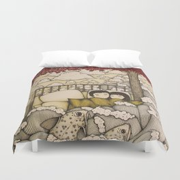 swept away & stranded Duvet Cover