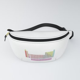 periodic table tribute to Mendeleev Fanny Pack