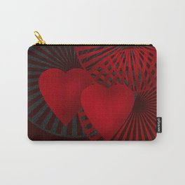 Love. The loving hearts .Black background . Carry-All Pouch