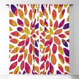 Watercolor brush strokes - multicolor Blackout Curtain