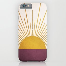 Marsala Sunset iPhone Case