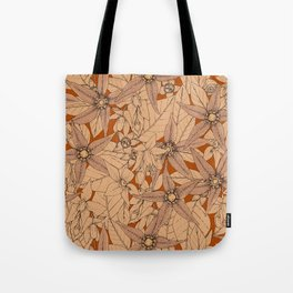 deadly nightshade rust Tote Bag
