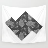 vancouver Wall Tapestries featuring Vancouver Grey by Mark John Grant