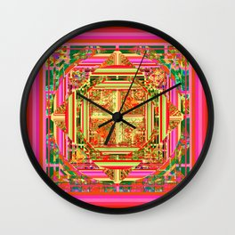 looking for something (yellow) Wall Clock