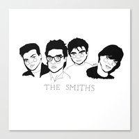 the smiths Canvas Prints featuring The Smiths by ☿ cactei ☿