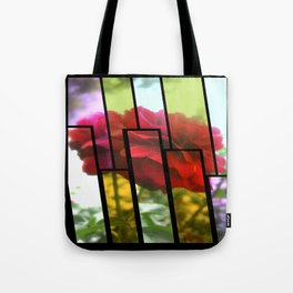 Red Rose with Light 1 Tinted 1 Tote Bag