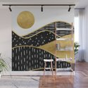 Gold Sun, digital surreal landscape by kookiepixel