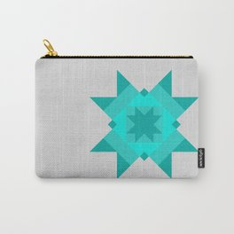 Tile Star - Teal Carry-All Pouch