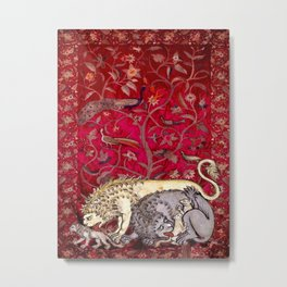 Family of Lions - Garden of Beasts Collection Metal Print