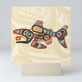 Haida Salmon Story Mini Art Print