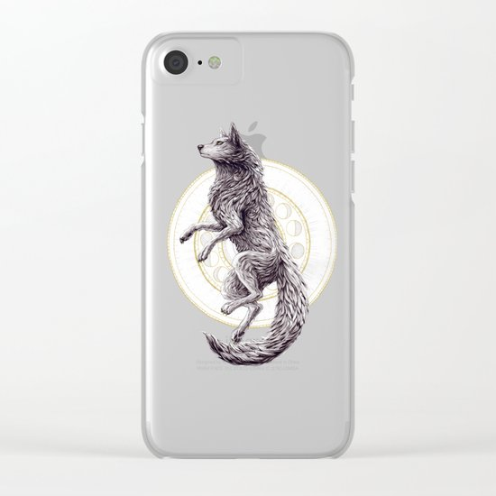 Shades of the moon Clear iPhone Case