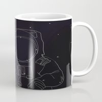 spaceman Mugs featuring Spaceman by Julianne Ess