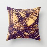 eiffel Throw Pillows featuring Eiffel by adrianperive
