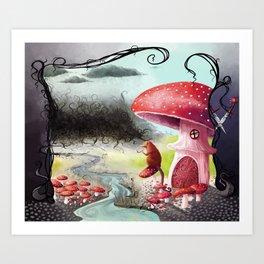 Infected Mushrooms Art Print